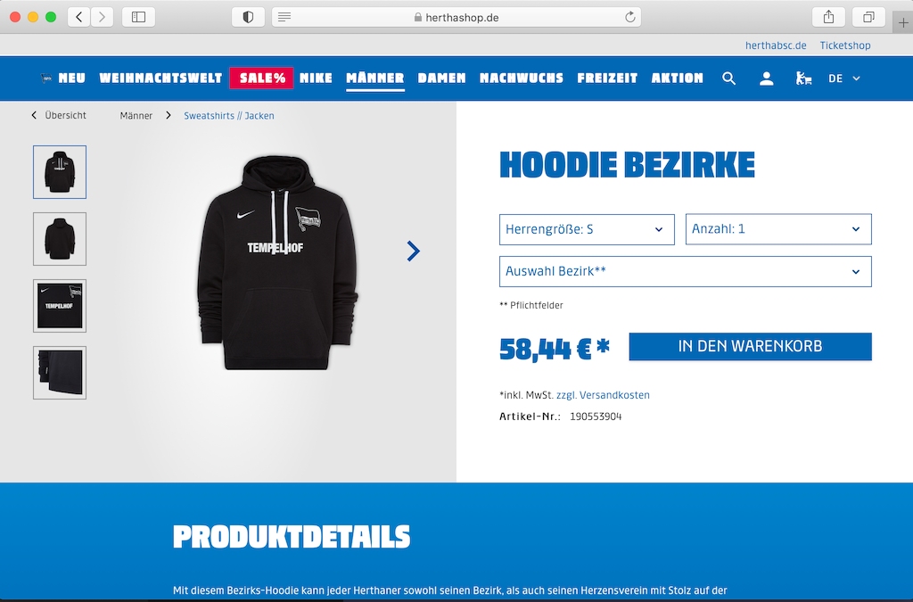 Hertha BSC Onlineshop