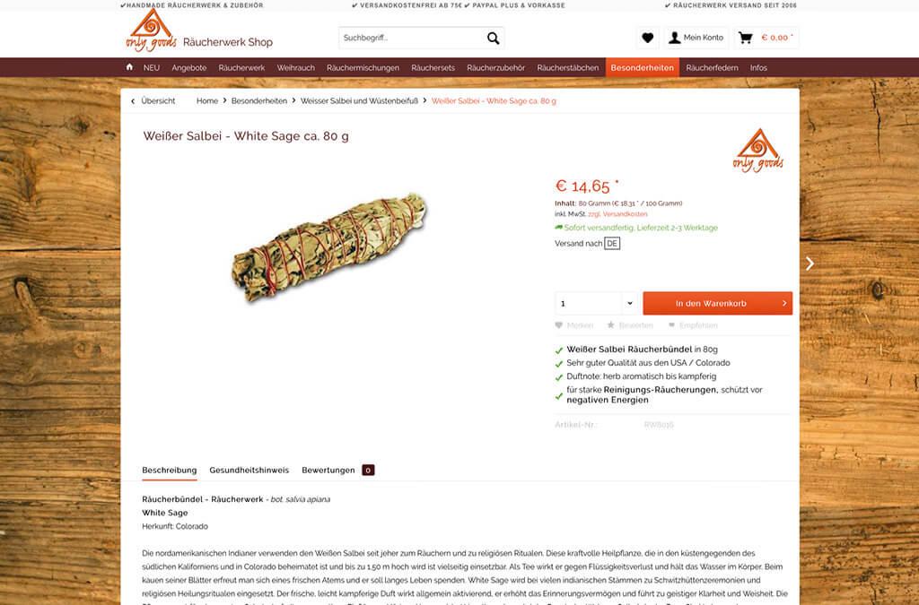 only-goods Räucherwerk Shop