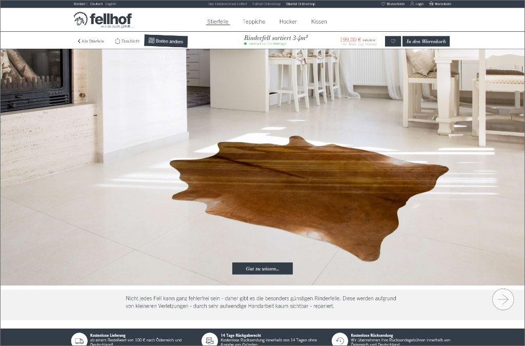 Stierfell Online Shop von Fellhof