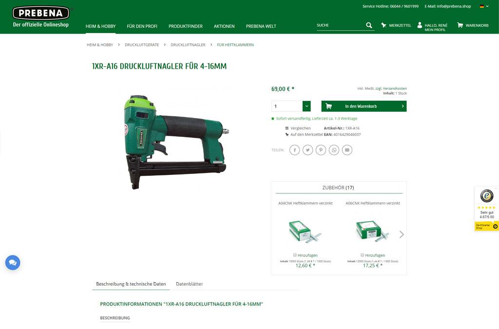 PREBENA - Druckluft-Technik