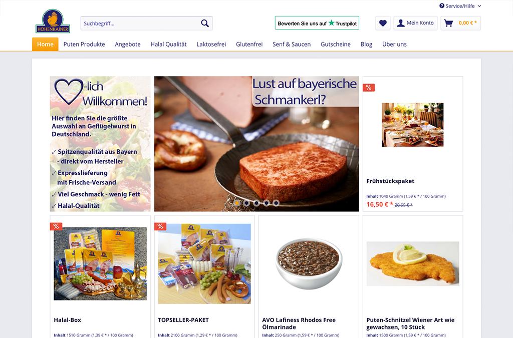 Bayerisch-leichte Premium-Produkte