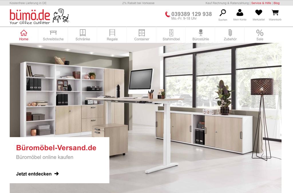 Onlineshop Relaunch Büromöbel Versand