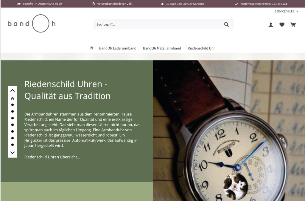 Uhren und Uhrarmbänder - Qualität aus Tradition
