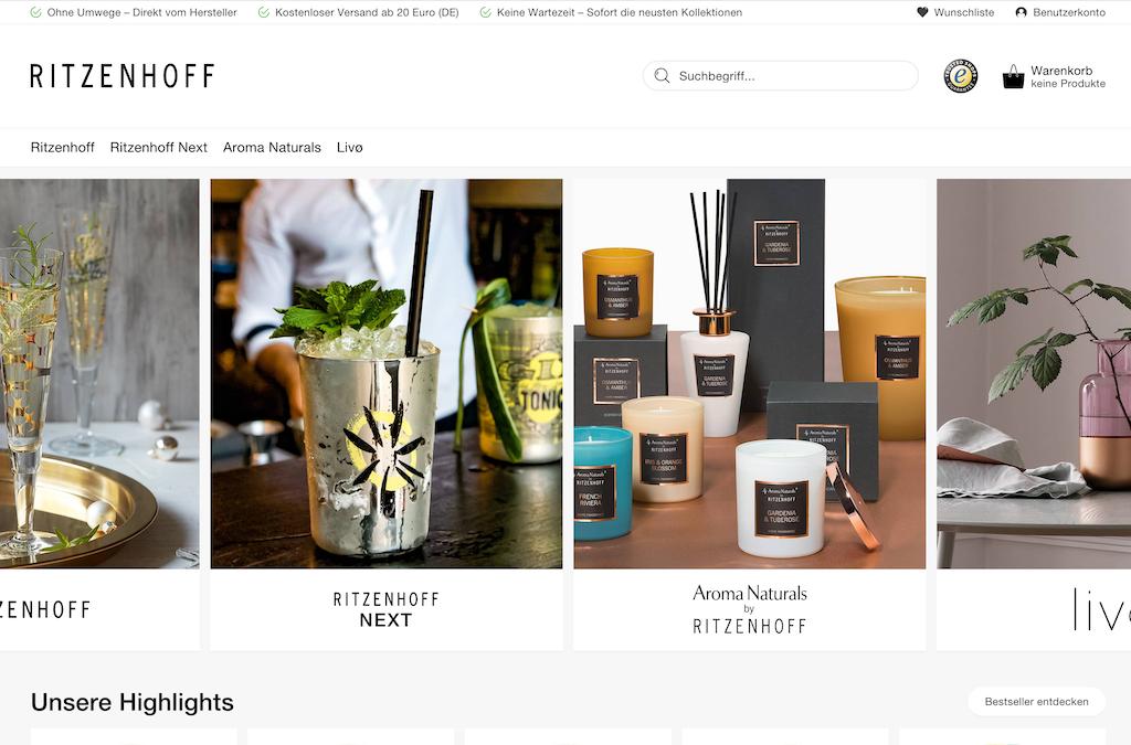 RITZENHOFF Online Shop