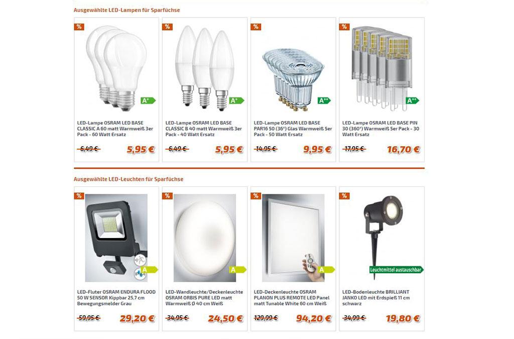 LED-Sparfuchs