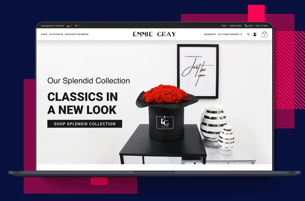 Emmie Gray - Premium Rosenboxen