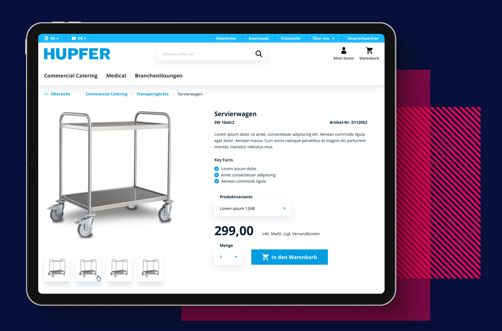 Hupfer B2B-Shop