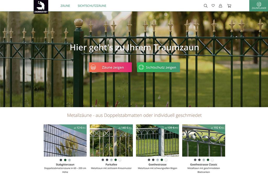 Zaunmeister -  Onlineshop für Zäune und Sichtschutzelemente