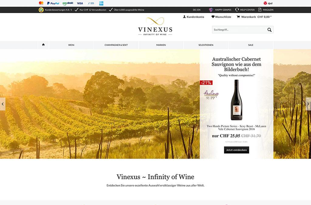 Weinversand Vinexus Schweiz