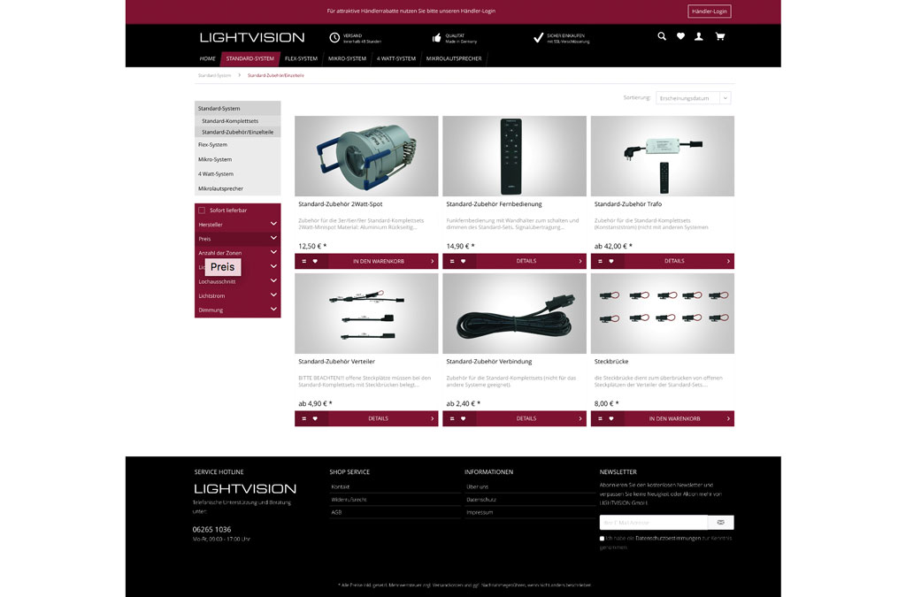Lightvision - LED-Beleuchtung