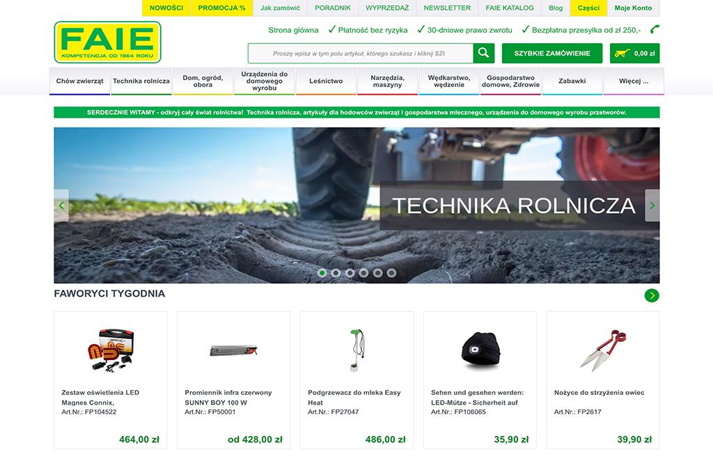 FAIE Internetowy sklep rolniczy