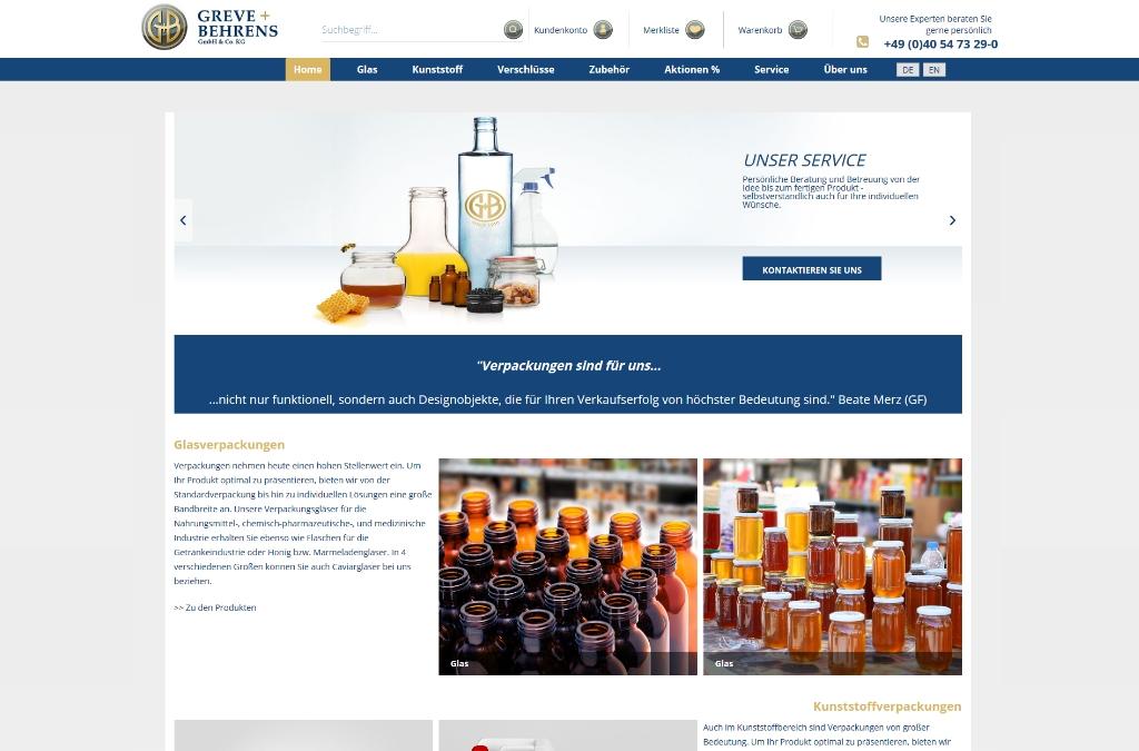 Greve + Behrens Online-Shop