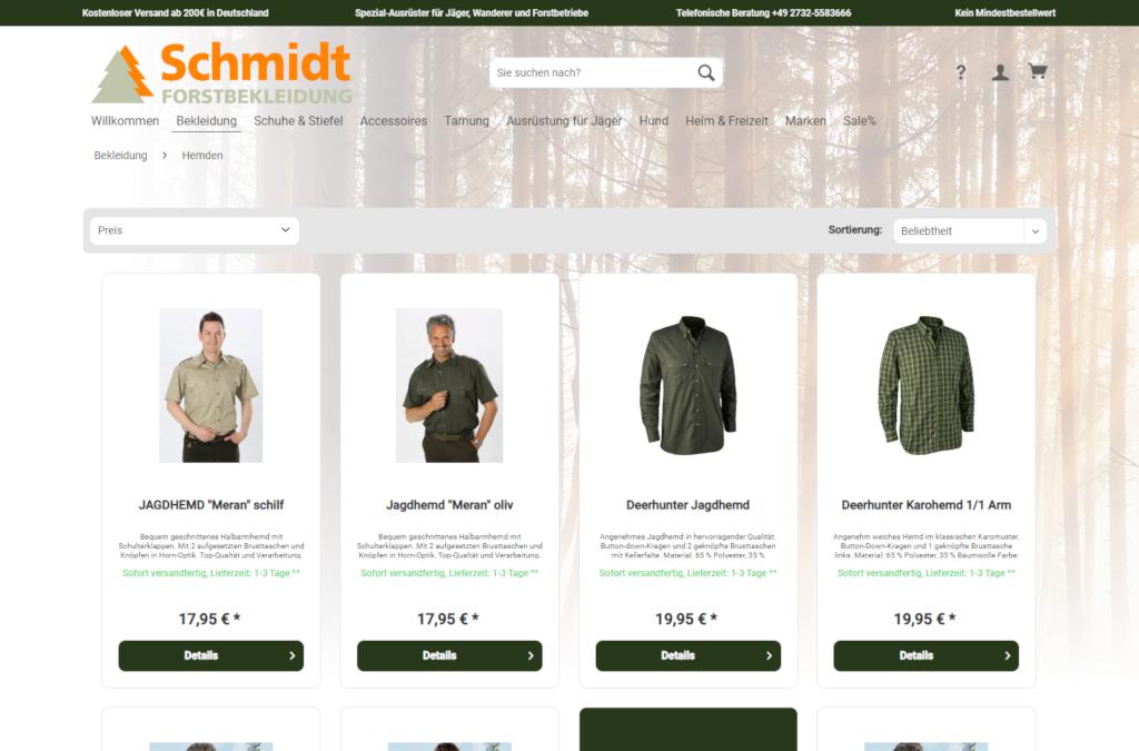 www.forstbekleidungschmidt-shop.de