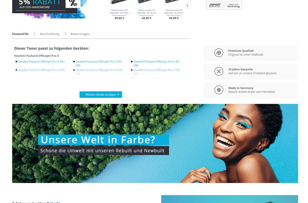 Tonoo Druckerpatronen Onlineshop