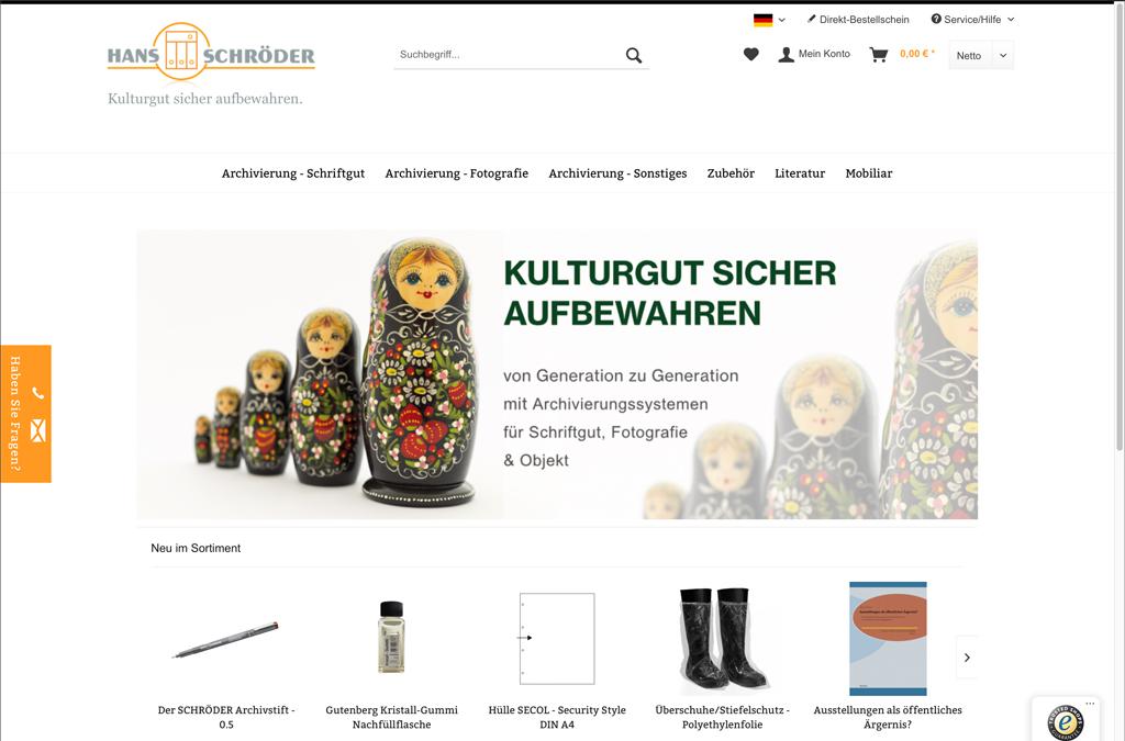 Archivbox - Hans Schröder