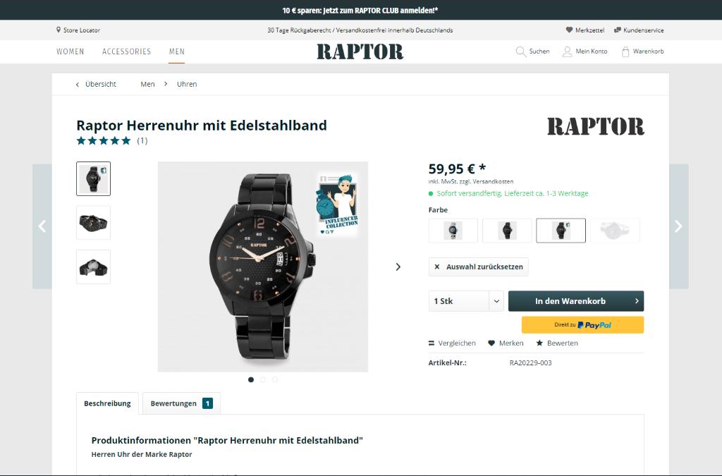 Raptor Watches