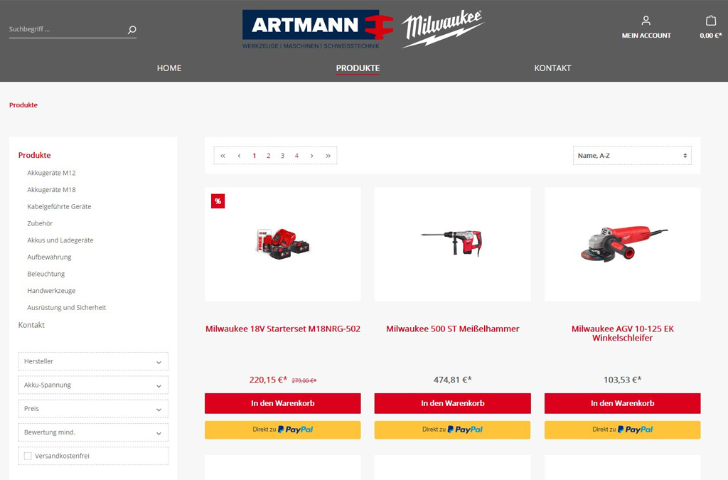Milwaukee Brand Shop - miltools.de