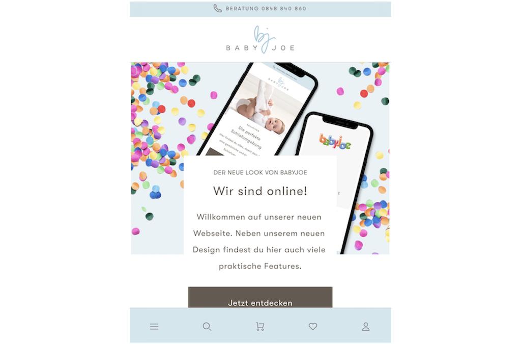 BabyJoe.ch – der Baby-Shop für Eltern und Kind