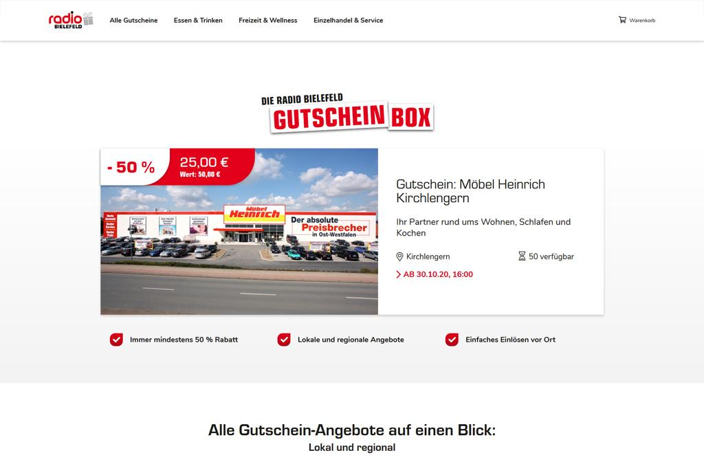 Radio Bielefeld Gutscheinbox