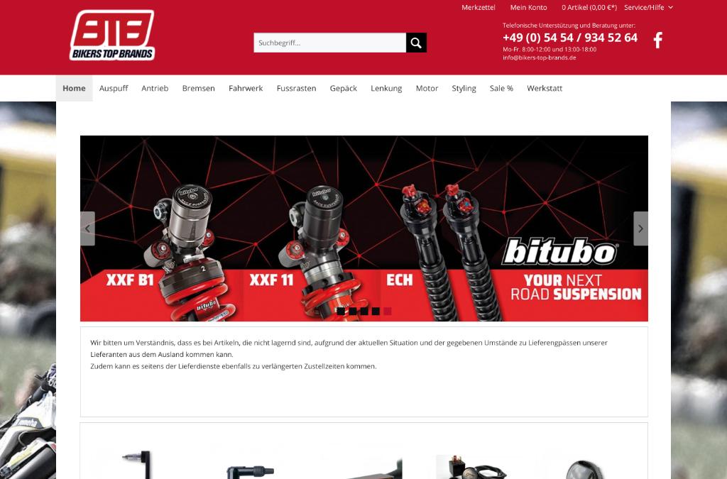 Bikers Top Brands Onlineshop