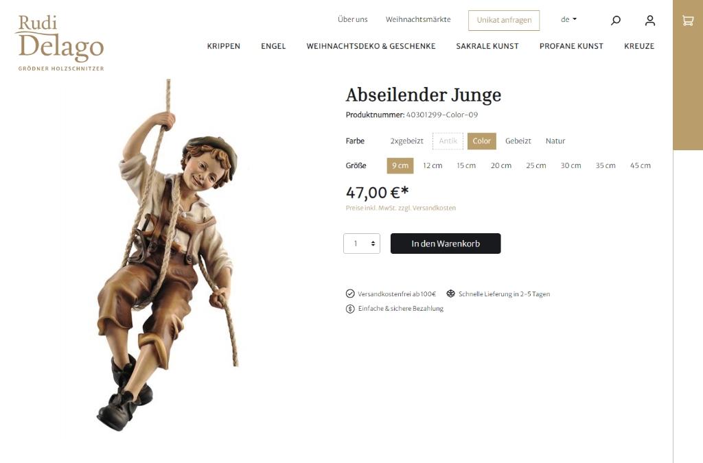 Rudi Delago | Grödner Holzschnitzer
