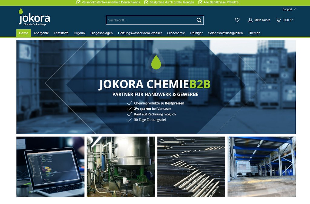 Jokora B2B Chemie Shop