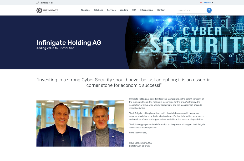 Infinigate Holding AG