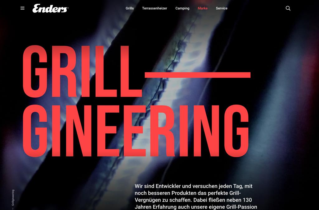Gasgrills Website mit SW6