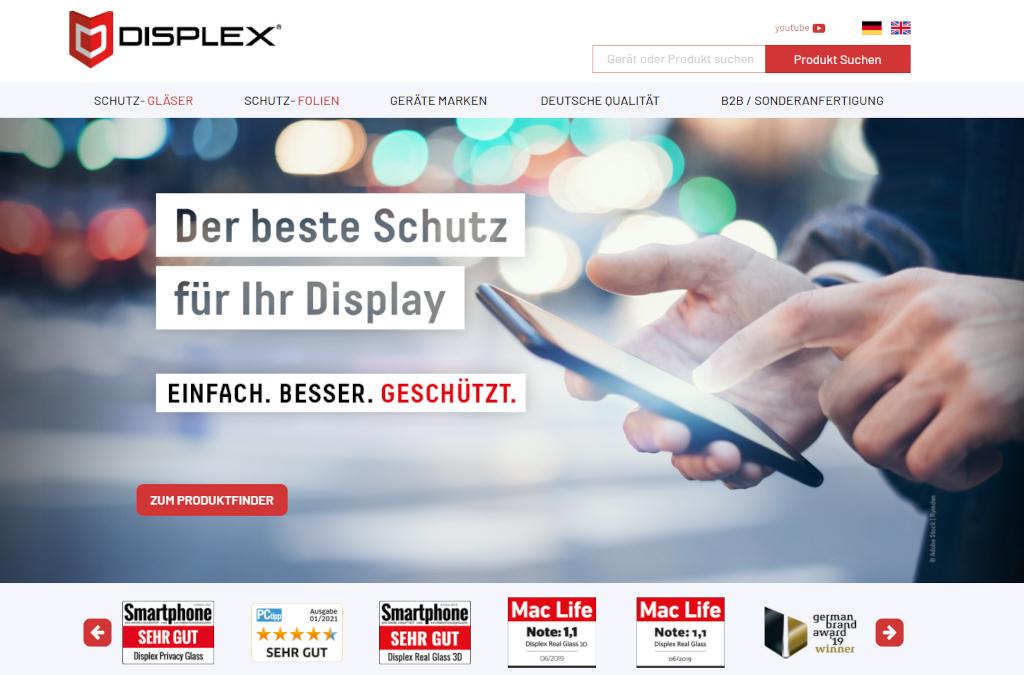 Displex Premium Displayschutz & Schutzgläser