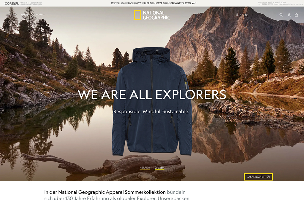 The CoreM - National Geographic Apparel