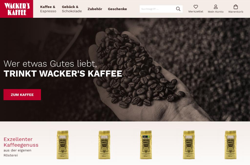 Wackers Kaffee Onlineshop