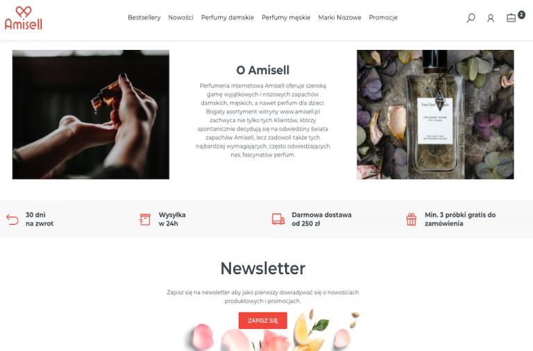 Perfumeria internetowa Amisell