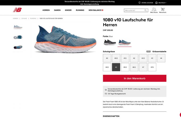 New Balance® Switzerland