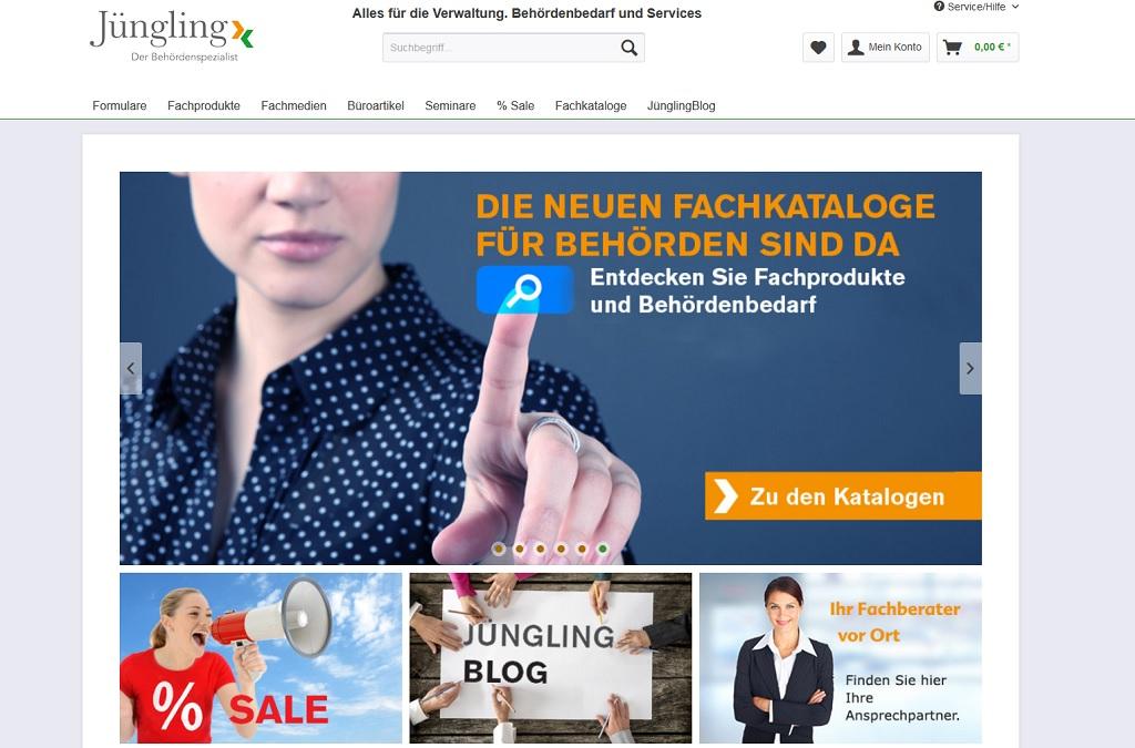 Neuer Online-Shop für den Behördenspezialist Jüngling