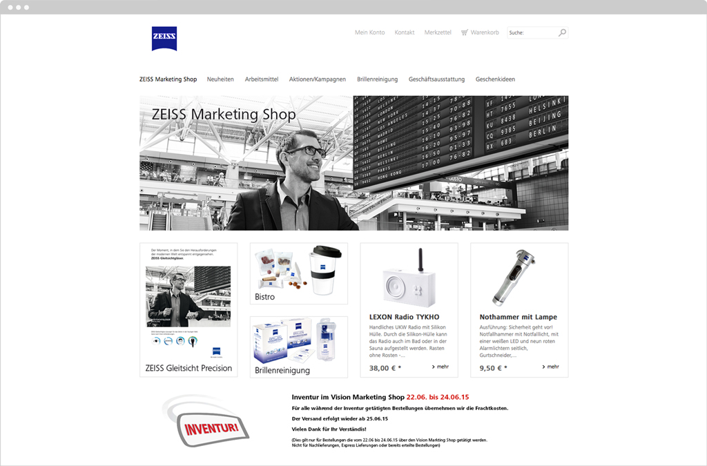 Zeiss Marketing Shop