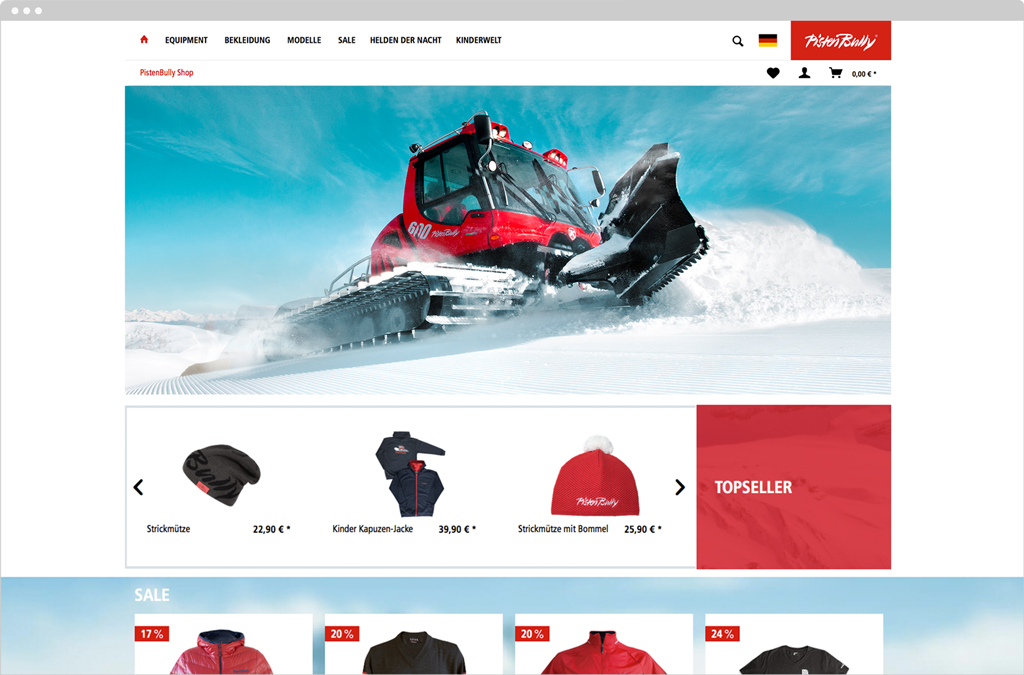 PistenBully Online-Shop