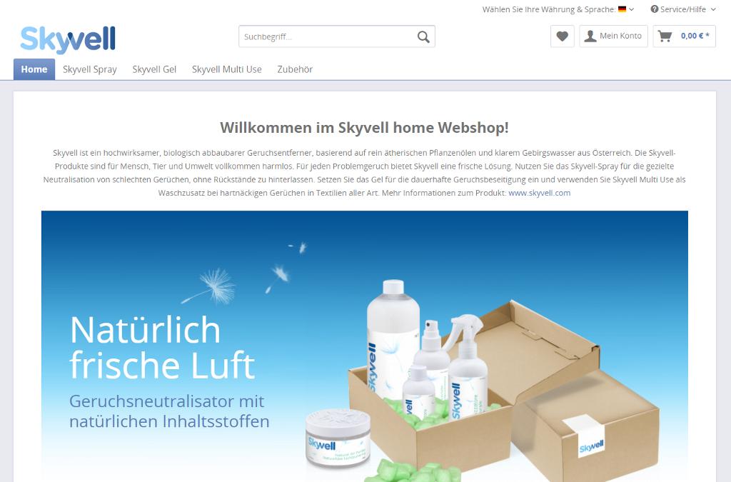 Skyvell home Webshop