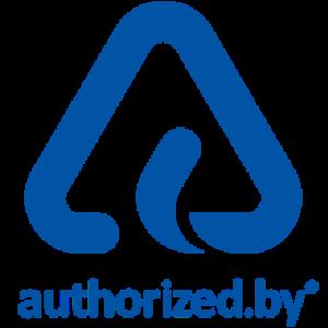 authorized.by - das Echzeit-Siegel für die Autorisierung durch Marken Logo